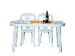 Τραπέζι κήπου Πλαστικό Λευκό Τήλος