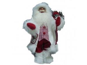 Λευκός Άγιος Βασίλης με σάκο