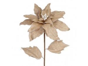 Χριστουγεννιάτικο Λουλούδι διακόσμησης μπεζ
