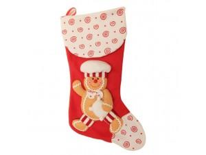Χριστουγεννιάτικη κάλτσα GINGERBREAD