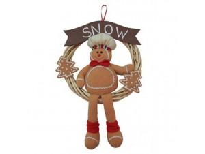 Χριστουγεννιάτικο στολίδι στεφάνι Gingerbread