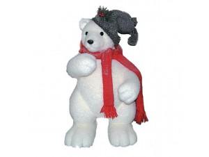 Αρκούδα άσπρη με κασκόλ