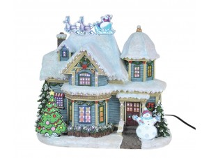 Χριστουγεννιάτικο φωτιζόμενο διακοσμητικό Σπιτάκι 23 εκ.