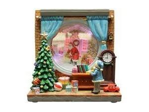 Χριστουγεννιάτικο φωτιζόμενο διακοσμητικό Παράθυρο 19,5 x 9 x 19,5 εκ