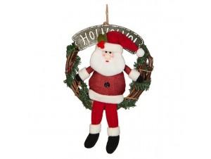 Χριστουγεννιάτικο ξύλινο στεφάνι 23 εκ