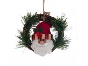 Χριστουγεννιάτικο ξύλινο στεφάνι 16 εκ