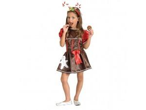 Χριστουγεννιάτικη στολή Μπισκότο Κορίτσι