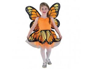 Αποκριάτικη στολή Πεταλούδα Πορτοκαλί