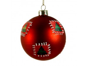 Χριστουγεννιάτικη Γυάλινη Μπάλα 10 εκ.