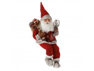 Διακοσμητικός Άγιος Βασίλης Καθιστός 30 εκ.