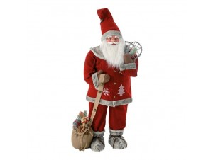 Διακοσμητικό Βιτρίνας Άγιος Βασίλης Κόκκινος 122 εκ