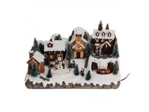 Χριστουγεννιάτικο χωριό φωτιζόμενο 38 x 18 x 21 εκ.