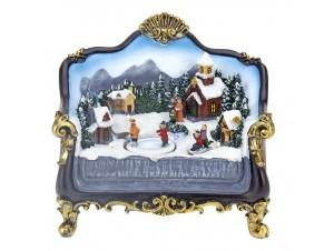 Χριστουγεννιάτικο σπιτάκι φωτιζόμενο 21 x 13 x 00 εκ.