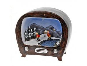 Χριστουγεννιάτικο σπιτάκι φωτιζόμενο,3 σχέδια 13x15x00 εκ