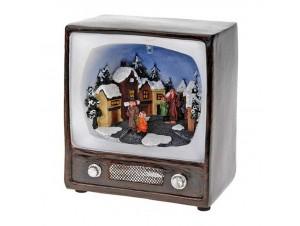 Χριστουγεννιάτικο σπιτάκι φωτιζόμενο,3 σχέδια 13x15 εκ