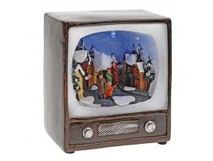 Χριστουγεννιάτικο σπιτάκι φωτιζόμενο, 3 σχέδια 13x 15 x 00 εκ
