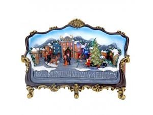 Χριστουγεννιάτικο σπιτάκι φωτιζόμενο 27 x 19 x 00 εκ.