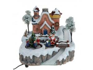 Χριστουγεννιάτικο σπιτάκι φωτιζόμενο