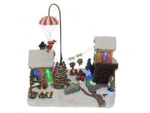 Χριστουγεννιάτικο χωριό φωτιζόμενο 30x19 x31 εκ.