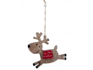 Χριστουγεννιάτικο ξύλινο στολίδι Ταρανδάκι