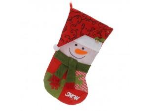 Χριστουγεννιάτικη κάλτσα 45 εκ. Χιονάνθρωπος