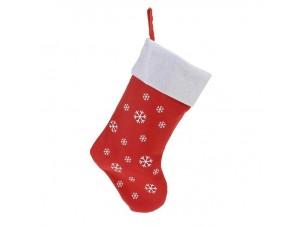 Χριστουγεννιάτικη κάλτσα 43 εκ. με νιφάδες