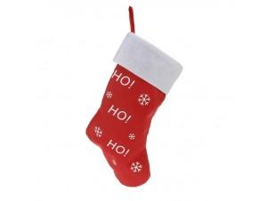 Χριστουγεννιάτικη κάλτσα 43 εκ. με ευχές ΗΟ! ΗΟ!