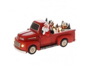 Χριστουγεννιάτικο Φωτιζόμενο Αυτοκίνητο με Αι Βασίλη 29x12x13 εκ.