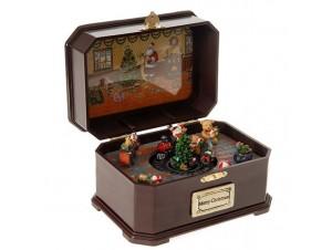 Χριστουγεννιάτικο Μουσικό Κουτί με τρενάκι 20x14x12 εκ.