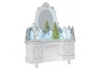 Χριστουγεννιάτικο Φωτιζόμενο Λευκό Διακοσμητικό 25x13 x30 εκ.