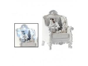 Χριστουγεννιάτικο Φωτιζόμενο Λευκό Διακοσμητικό 15x13x20 εκ.