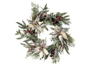 Χριστουγεννιάτικο στεφάνι με κουκουνάρια 60 εκ