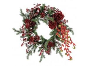 Χριστουγεννιάτικο στολισμένο στεφάνι 50 εκ