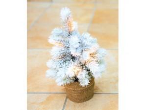 Δέντρο 0,33 εκ. Χιονισμένο PE με φως