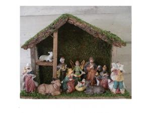Παραδοσιακή Χριστουγεννιάτικη Φάτνη Ξύλινη