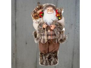 Αγιος Βασίλης με σάκο και κλαδιά 45 εκ
