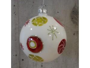 Πολύχρωμη χριστουγεννιάτικη μπάλα