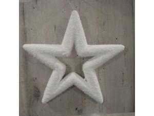 Χριστουγεννιάτικο χιονισμένο αστέρι 21 εκ.
