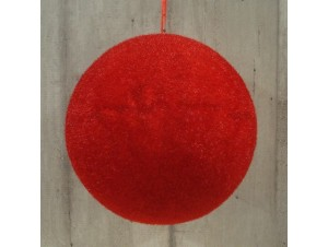 Χριστουγεννιάτικη κόκκινη μπάλα  8 εκ.