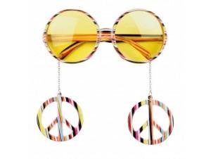 Αποκριάτικα Γυαλιά Χίππυ με σκουλαρικια