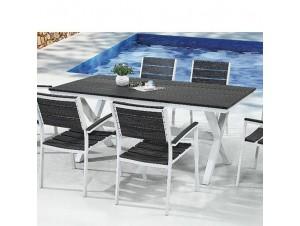 AQUARIUM Τραπέζι αλουμινίου - polywood
