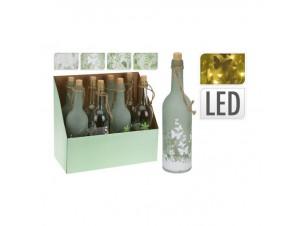 Γυάλινο διακοσμητικό Μπουκάλι με φωτάκια led