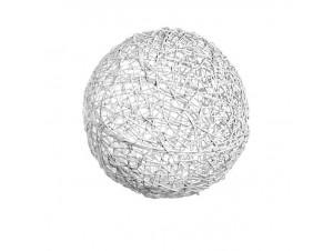 Διακοσμητική πλεκτή ξύλινη μπάλα 20cm