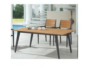 TEL AVIV Τραπέζι αλουμινίου-polywood