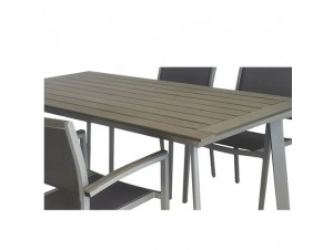 MESSINA Τραπέζι αλουμινίου-polywood