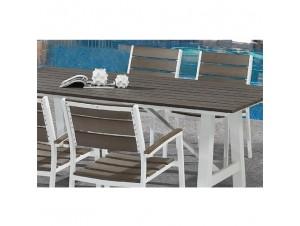 MINSK Τραπέζι αλουμινίου-polywood