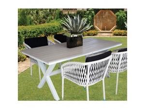 PELOMA Τραπέζι αλουμινίου- polywood