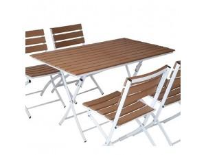 Palermo Τραπέζι μεταλλικό - polywood