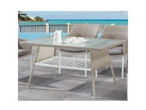 CANCUN Τραπέζι αλουμινίου- polywood