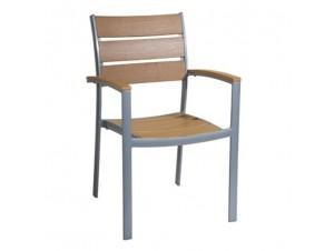 MAXIMA Πολυθρόνα Αλουμινίου-Polywood